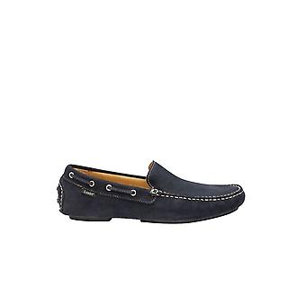 Loake Donnington Driving Shoe Navy Suede