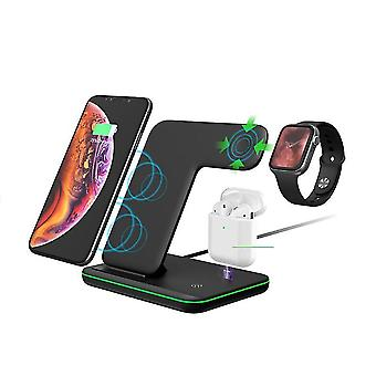 Wireless charger 3 in 1 charger compatible with phones watches earphones