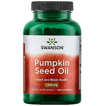 Swanson Huile de Pépins de Courge 1000 mg 100 Gélules