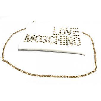 Laukku nainen rakkaus moschino pochette olkahihna valkoinen tekonahka Bs21mo78 Jc4227