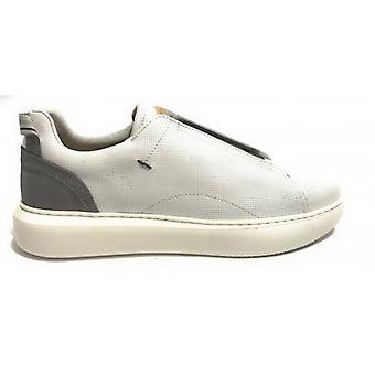 الرجال أحذية طموحة 10441 رمادي أبيض الجلود زلة على Us20am06