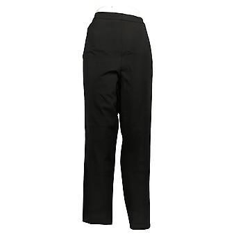 Isaac Mizrahi En direct! Femmes's Pants Plus Stretch Slim Leg Black A350690