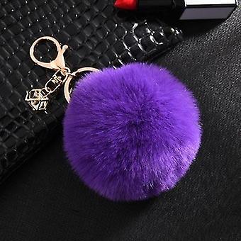 Fluffy and soft nordic style rabbit pompom trinket keychains