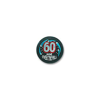 60 & Over The Hill Satin Button (Packung mit 6)