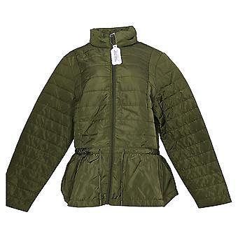 zuda Women's Quilted Peplum Puffer Jacket Green A384435