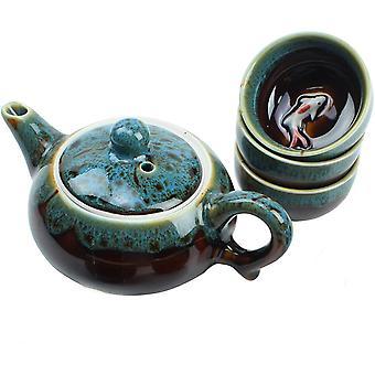 Traditional Porcelain Loose Leaf Chinese Teapot Set