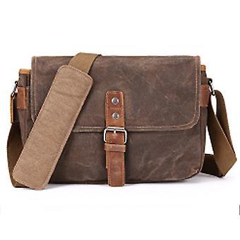 Vintage lærred skuldertaske business mænd 's bryst taske