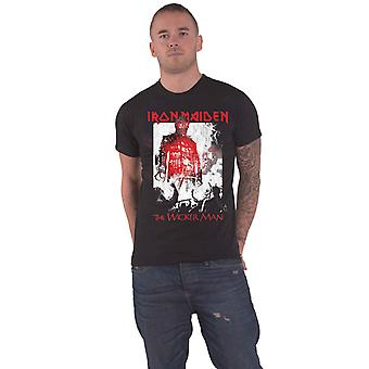 Iron Maiden T Shirt The Wicker Man Smoke Band Logo new Official Mens Black