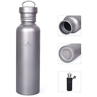 Gerui Titanium Water Bottle with Leak-proof Lid Outdoor Sports Bottle Ultralight Canteen Drinking Flask