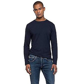 REPLAY M3137 T-Shirt, 890 Dark Blue, L Man