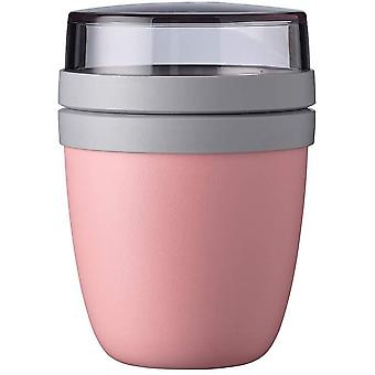 FengChun Lunchtopf Ellipse Mini, PP/PCTG, Nordisch rosa, 300 + 120 ml