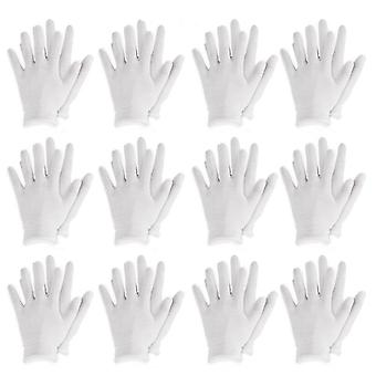 Reusable White Cotton Gloves