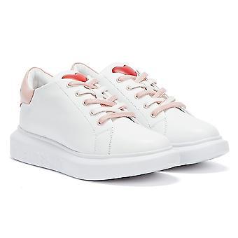 Rakkaus Moschino Running Naisten Valkoinen Vaaleanpunainen Kouluttajat