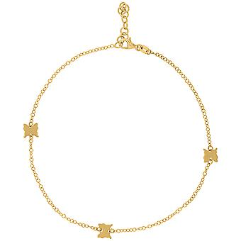 14k Yellow Gold Womens Polished Finish Butterfly Angel Wings Anklet Jewelry Gifts for Women