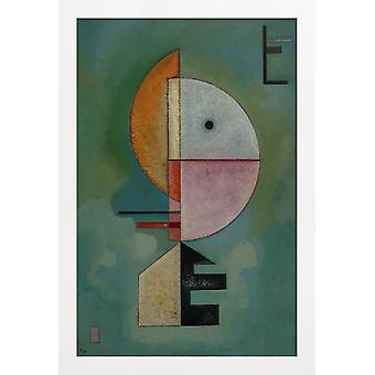 JUNIQE Print - Kandinsky - Uppåt - Wassily Kandinsky Affisch i Grönt & Orange