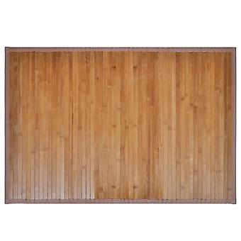 2 bamboe badkamermatten 40 x 50 cm bruin