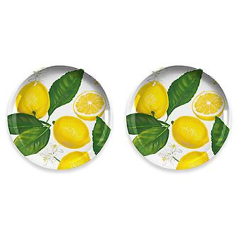 Epicurean الليمون الطازج مجموعة من 2 لوحات جانبية الميلامين