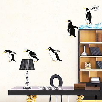 Regenboghorn Jumping Penguin Wall Decal Sticker