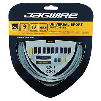 Jagwire Universal Sport Shift Kabel kit flätade vit