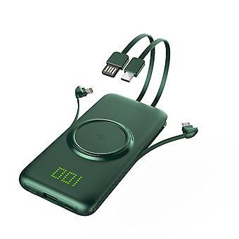 Bezdrátová nabíječka Power Bank 20000mah Qi & 10000 Mah Externí nabíječka baterií