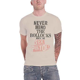 The Sex Pistols T Shirt Never Mind The Band Logo new Official Mens Natural