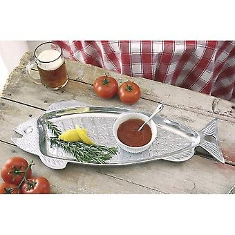 Fun Fish Shaped Silver Embellished Serving Tray