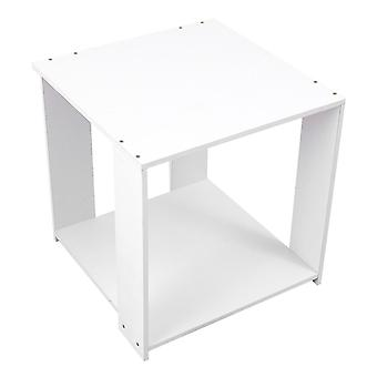 1 stk varm hvit firkant moderne enkel oppbevaringsbord for kontor soverom