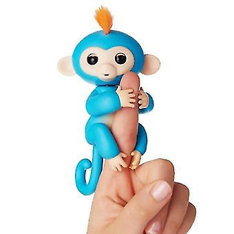 Lasten lelut , Finger Monkey Interactive Baby Pet (Sininen)