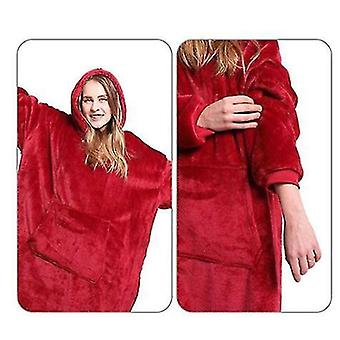 Oversized Hoodie Deka Styled Pullover (červená)