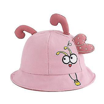 1 tot 2 jaar oud kleine bij borduurwerk baby visser hoed top tentakels baby hoed (roze)