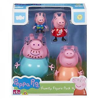 Figures Bandai Peppa Pig (4 Pcs)