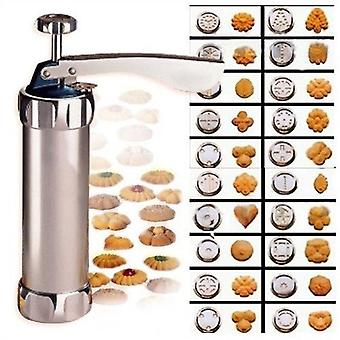 Hot Manual Cookie Press Stamps Set Baking Tools 24 In 1 With 4