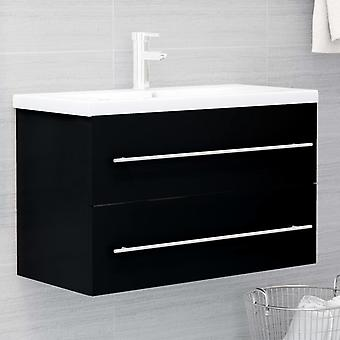 cabinet base lavabo vidaXL nero 80x38,5x48 cm truciolato