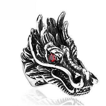 Cool Dragon Head Ring Stainless Steel Finger Ring For Daily Use