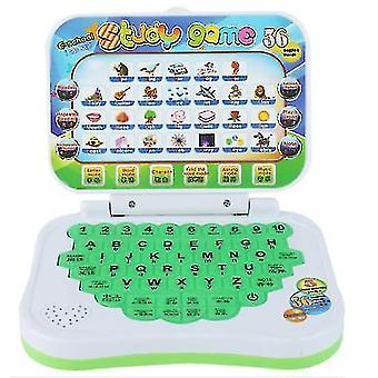 Cartoon Children's learning machine,folding English learning educational toys (Green)