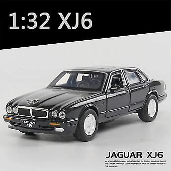 1:32 جاكوار XJ6 سيارة موديل سيارة نموذج الصوت والضوء الأطفال المقتنيات اللعبة (أسود)