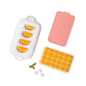 24 Grid Ice Cube Mold SiliconeTray Square Ice Tray Mould Easy Release Silicone