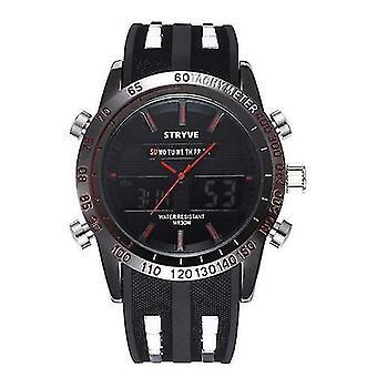 שעוני יד דיגיטליים לגברים שעונים עמידים למים(אדום)