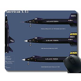 (220X180X3) Gaming Mouse Pad Custom, North American X 15 aircraft Mouse Pad for Office Desktop o