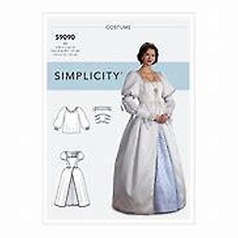Simplicité Couture Motifs 9090 Misses Medieval Fantasy Costumes Taille 14-22 Euro 40-48
