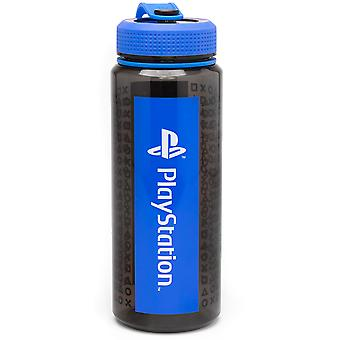 PlayStation Vattenflaska för vuxna och barn 1064ML   Spelkonsol logotyp Sport Resemugg   Blå vit svart spelvaror en storlek