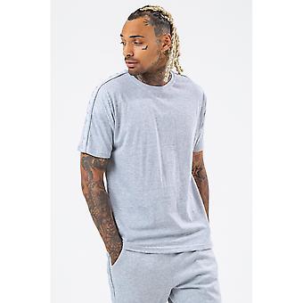 Hype Mens Tonal Tape Scribble Logo Superdimensionado T-Shirt