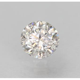 معتمد 0.36 قيراط D اللون SI2 جولة رائعة الماس فضفاضة الطبيعية 4.47mm