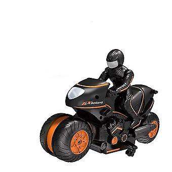Kinderen motorfiets elektrische afstandsbediening auto racing boy speelgoed voor kinderen verjaardagscadeau (oranje)