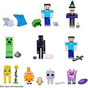 Minecraft 3,25-tommers kjernefigur (stiler varierer, én følger med)
