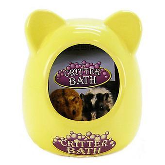 """Kaytee Critter Bath - Céramique - Couleurs assorties - (3.5""""L x 3.5""""L x 4.25""""H)"""