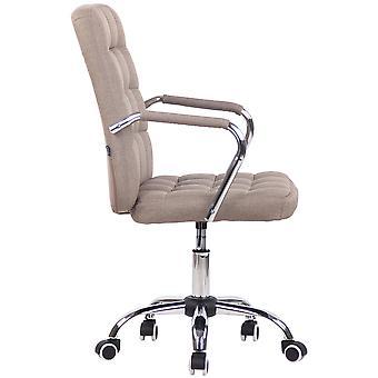 Silla de oficina - Silla de escritorio - Oficina en casa - Moderna - Taupe - Metal - 56 cm x 60 cm x 93 cm