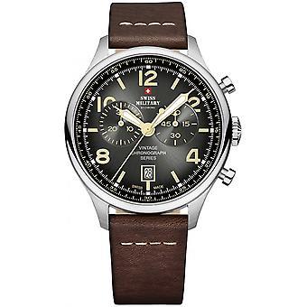 Swiss Military By Chrono Brown Genuine Leather SM30192.04 Reloj de Hombre