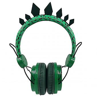 Boy Headphones Jurassic Dinosaur 3.5mm Wired Headphones With Microphone Suitable For Learning Games