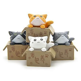 4pcs / lot Zakka à la recherche de jouets de poupée de chat
